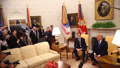 Elogios a Rafa Nadal, menú con guiños españoles en la Casa Blanca y un jamón para Donald Trump