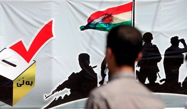 Votación en el referéndum de independencia del Kurdistán