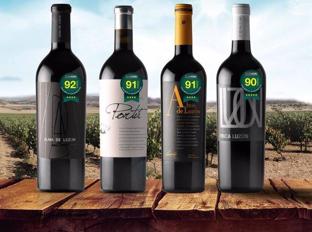 La guía Peñín 2018 califica de Excelentes cuatro vinos de Bodegas Luzón