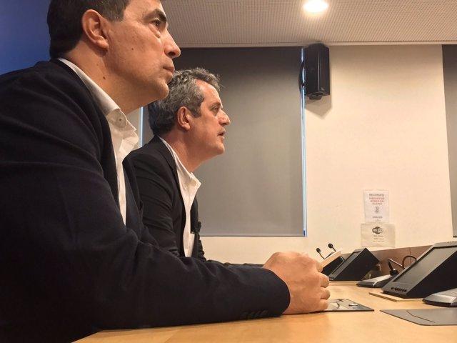 El director de los Mossos, Pere Soler, y el conseller de Interior, Joaquim Forn