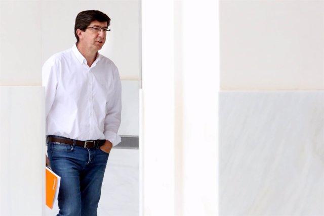 El presidente y portavoz de Cs Andalucía, Juan Marín
