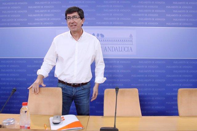 El líder de Cs en Andalucía, Juan Marín