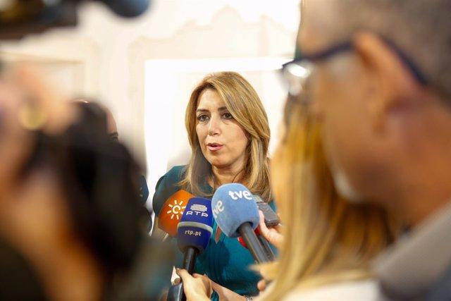 Susana Díaz, presidenta de la Junta, en Portugal