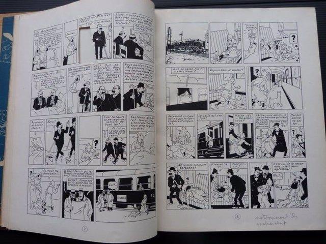 Cómic de 1943 de Tintín subastado por más de 68.000 euros