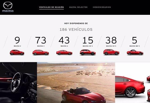 Web Mazda vehículos de ocasión
