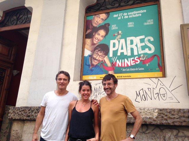 Josep Linuesa, Mónica Corral y Carlos Chamarro presentan 'Pares y Nines'