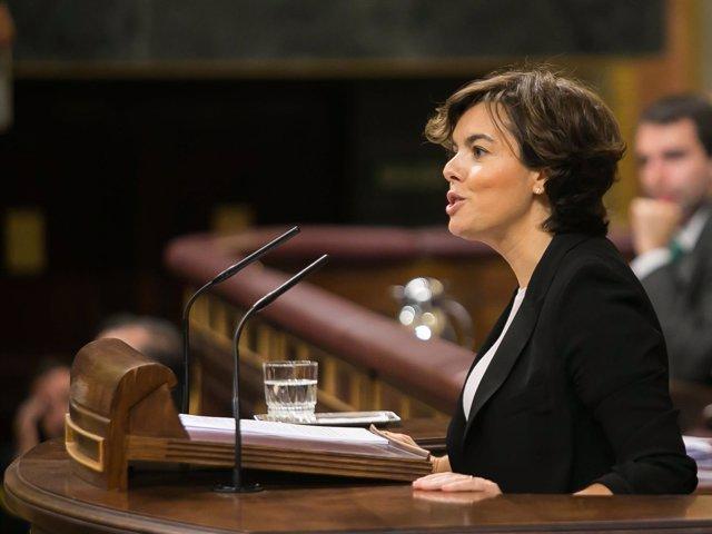 La vicepresidenta Soraya Sáenz de Santamaría
