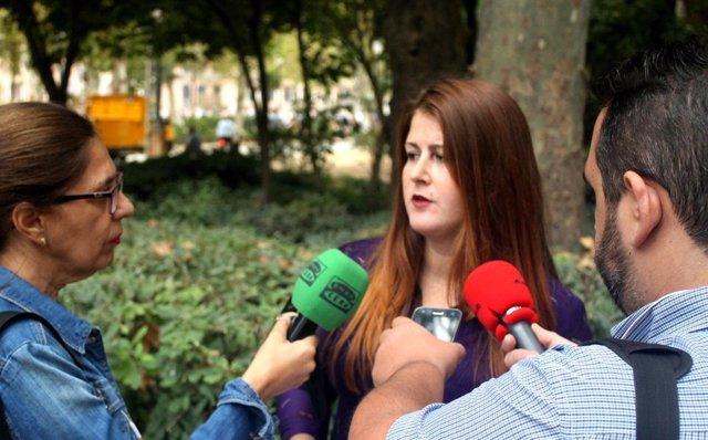 Susana Serrano en el parque de María Luisa.