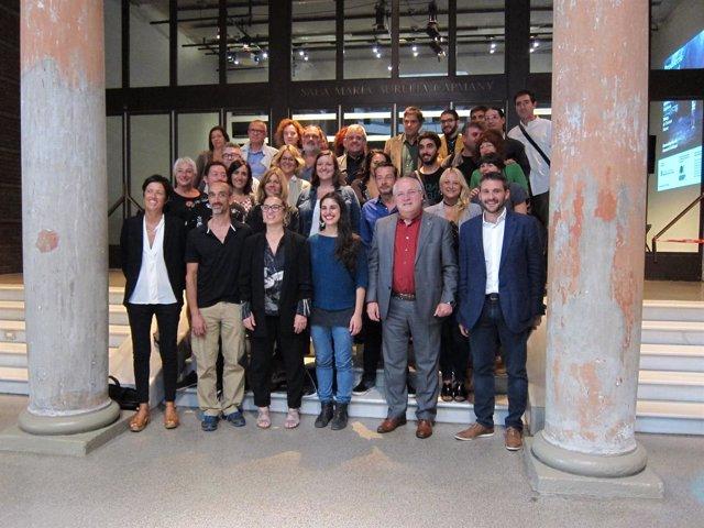 Presentación de la 1ºProducción Nacional de Danza con el conseller L.Puig