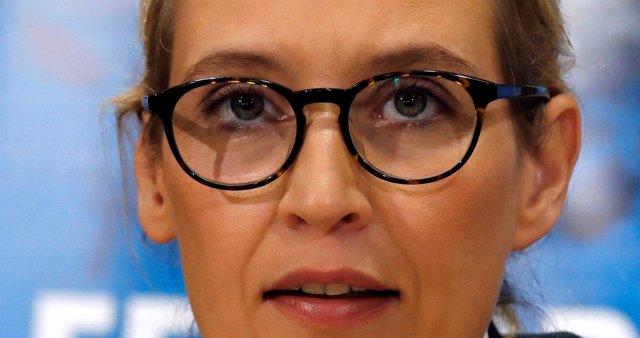 La líder del partido ultraderechista AfD, Alice Weidel
