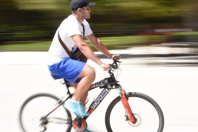 Ciclistas, bicicleta, deporte