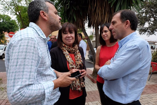 La presidenta del PSOE, Cristina Narbona, en málaga