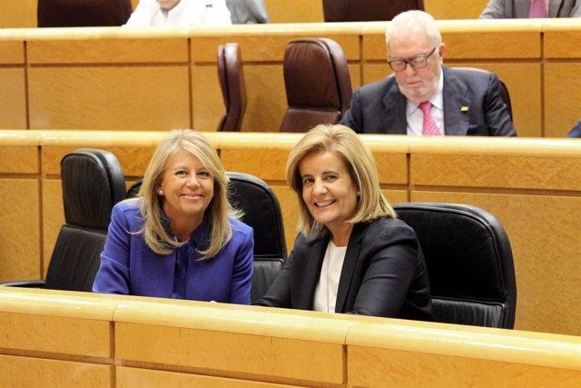 Angeles Muñoz alcaldesa de marbella con ministra de empleo fatima bañez