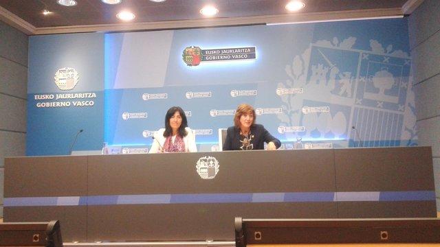 Cristina Uriarte y Olatz Garamendi
