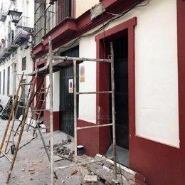 Herido grave un operario en Sevilla cuando trabajaba en una obra sin permisos