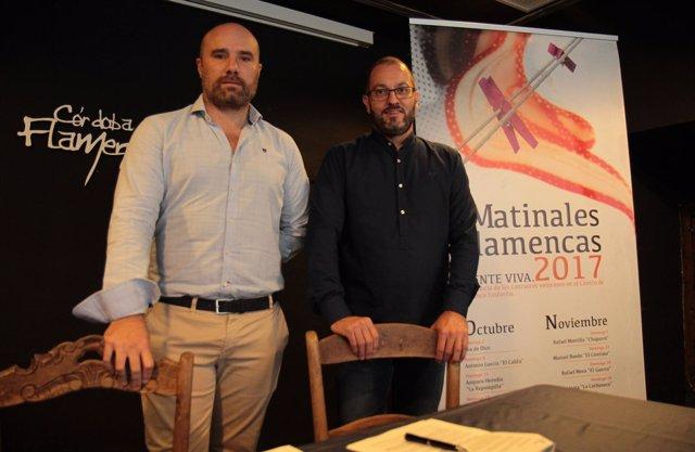 Luque (dcha.) y Castejón presentan la programación del CFF