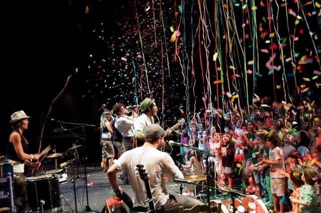 Una actuación del festival Petits Camaleons de 2016