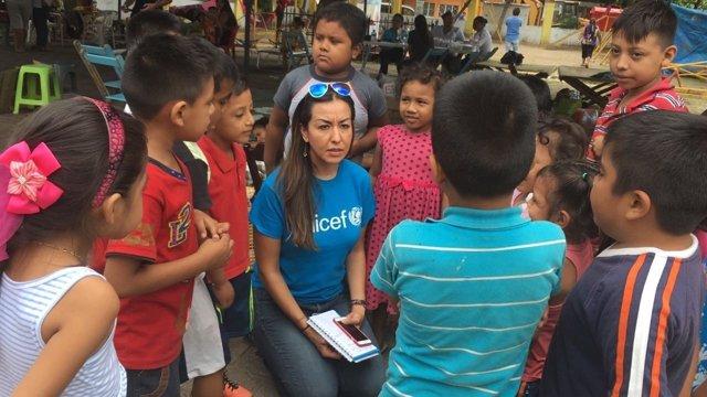UNICEF proporciona ayuda a niños afectados emocionalmente tras los seismos