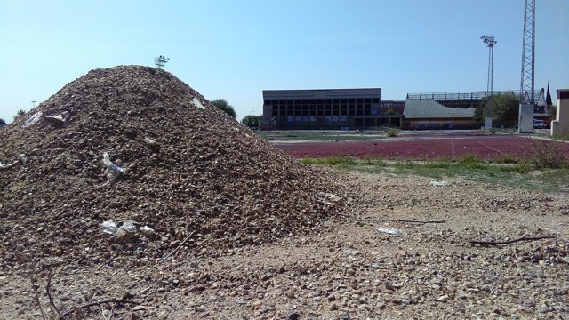 Demolición antiguo polideportivo San Isidro de Getafe