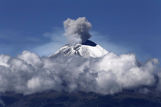 El volcán Popocatépetl en México