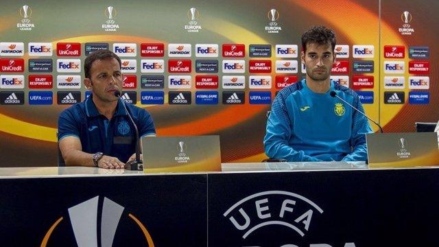 Javi Calleja y Manu Trigueros en rueda de prensa