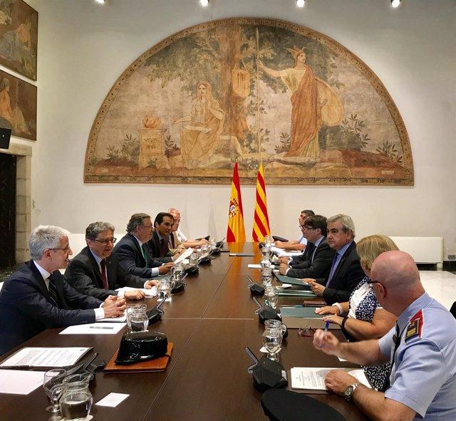 Reunión de julio de la Junta de Seguridad de Catalunya