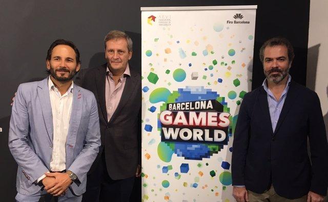 Josep Antoni Llopart (BGW), Alberto González (BGW) y José María Moreno (Aevi)