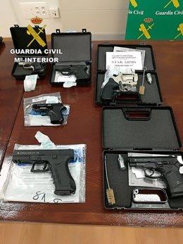Armas requisadas por la Guardia Civil en la Operación RUGER