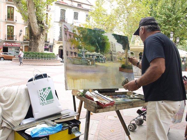 Certamen de pintura rápida de Caja Rural