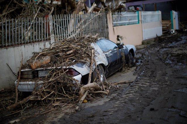 Daños por el paso del huracán 'Maria' en Puerto Rico