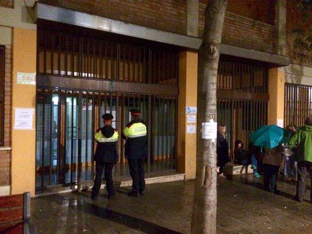 Escolapias de El Clot de Barcelona el día del referéndum del 1 de octubre