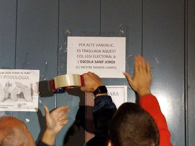 Sede electoral prevista para el vicepte.O.Junqueras para el referéndum