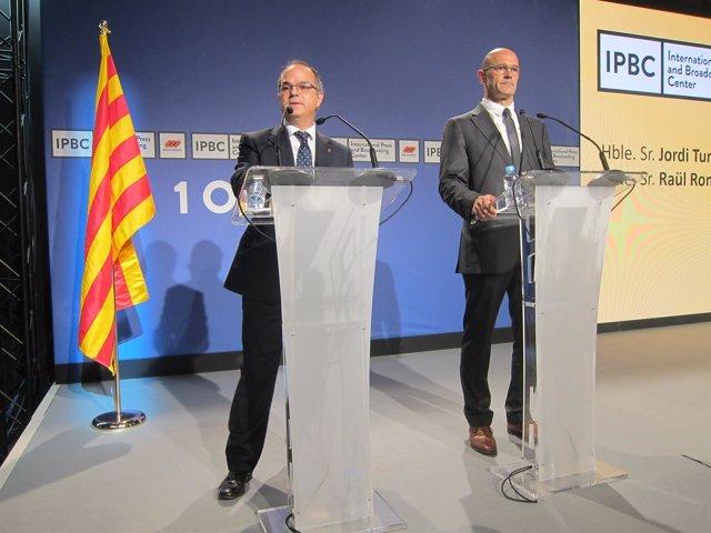 Consellers de la Generalitat Jordi Turull, Raül Romeva