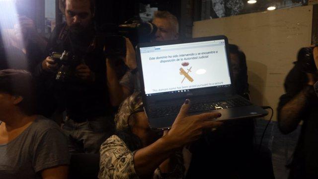 Intervención de Internet por parte de la G.Civil de Cotxeres de Sants