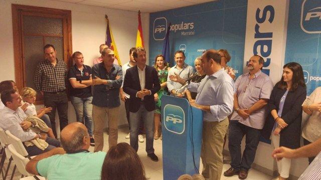 Xisco Ferrà proclamado nuevo presidente de la junta local del PP de Marratxí