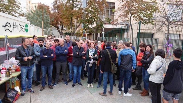La alcaldesa de Girona, Marta Madrenas, esperando votar en el 1-O
