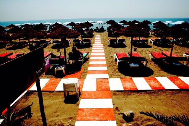 Costa Del Sol. Playa de Torremolinos.