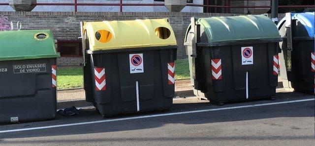 Contendores de recogida selectiva de basura
