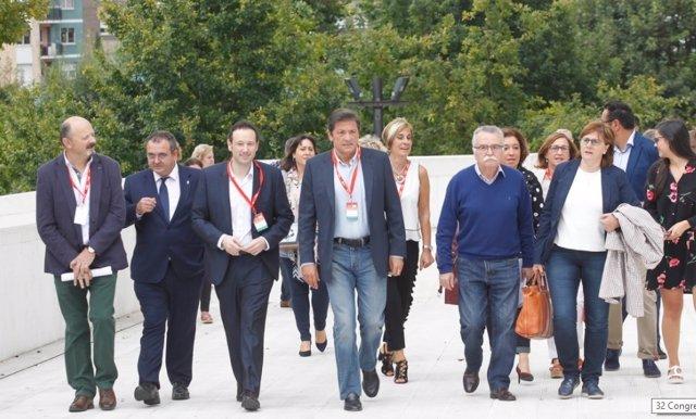 Javier Fernández, a su llegada al Congreso de la FSA