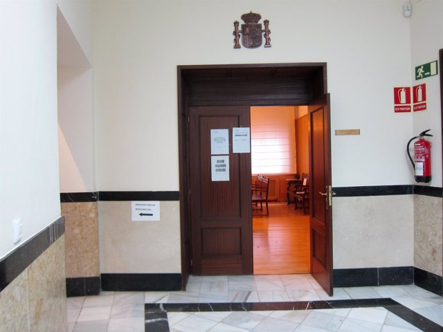 Sala de vistas de la Audiencia de Valladolid.