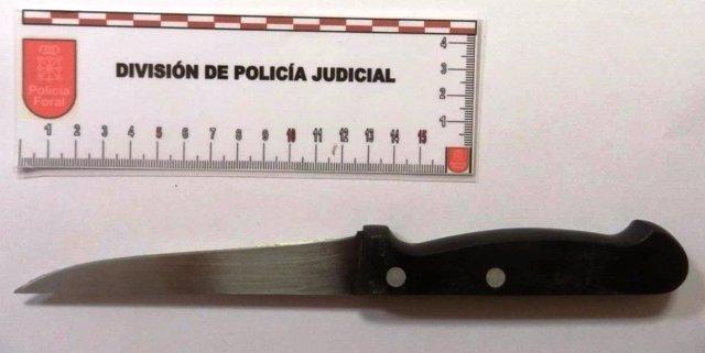 Cuchillo utilizado para las amenazas