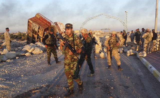Tropas iraquíes en Ramadi
