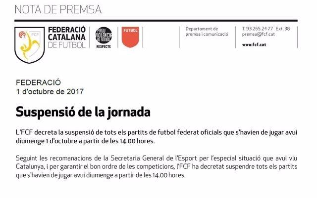 Federació Catalana de Futbol FCF
