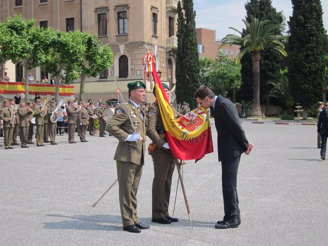 Jura De Bandera En El Cuartel Del Bruc De Barcelona