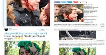 Referendum Cataluña: Las fotos de falsos heridos que circulan por las redes