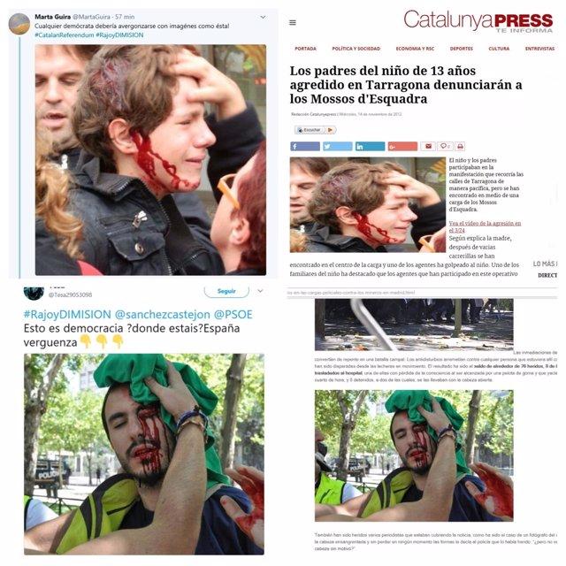 Fotos falsas en redes sociales