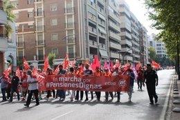 Marcha de UGT-A y CCOO-A por las pensiones dignas