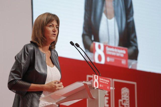 Idoia Mendia en el Congreso del PSE-EE