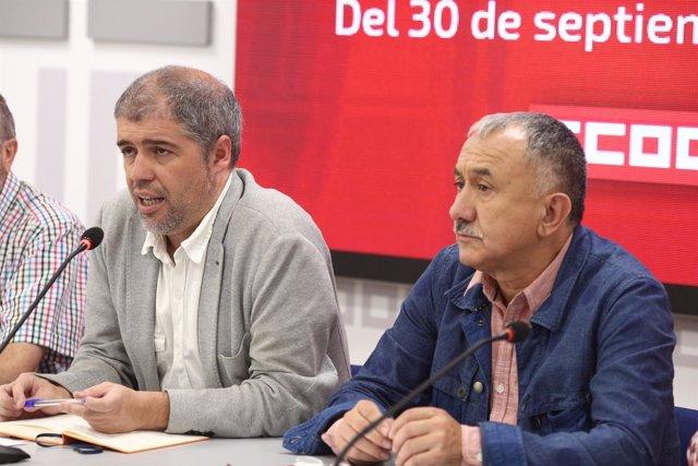 Sordo y Álvarez presentan el recorrido de las marchas por pensiones dignas