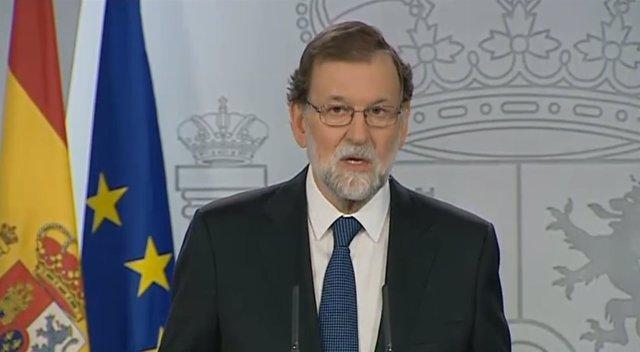 Intervención de Mariano Rajoy en la Moncloa